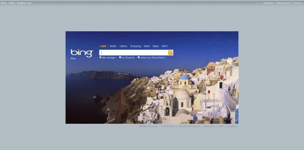 Micrsosofts Suchmaschine Bing