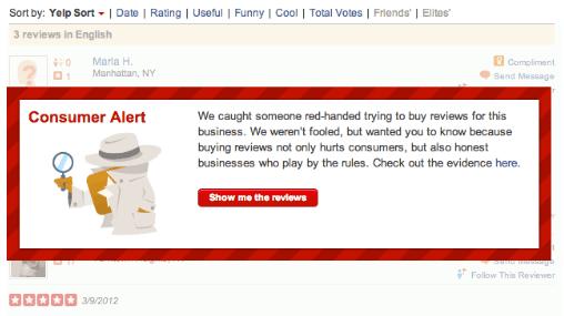 Yelp Bewertungen kaufen - ein gefährliches Spiel