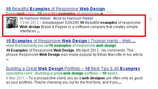 Anzeige des Autorenbildes in den Google Suchergebnissen